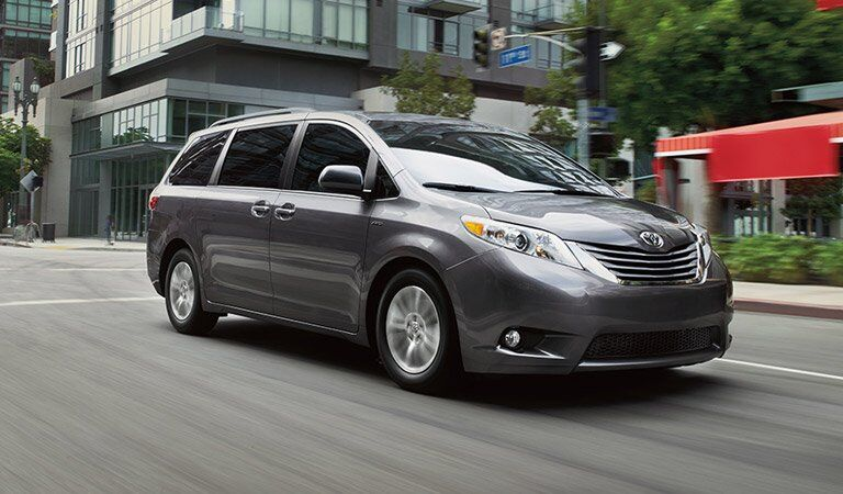 silver Toyota Sienna seen from the side