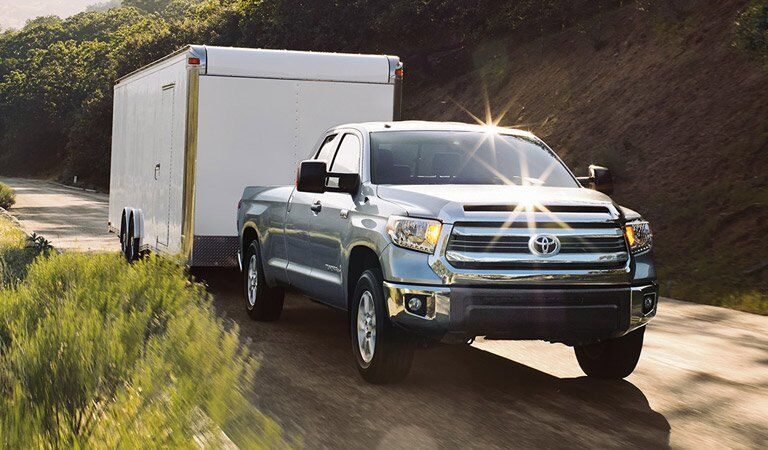 full-size Toyota Tundra hauling a trailer