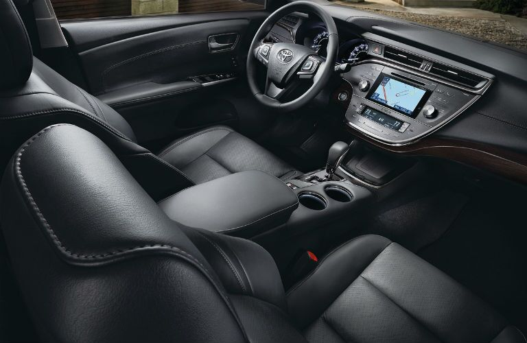 front seat of 2018 Toyota Avalon