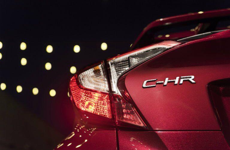 rear branding on the 2018 Toyota C-HR