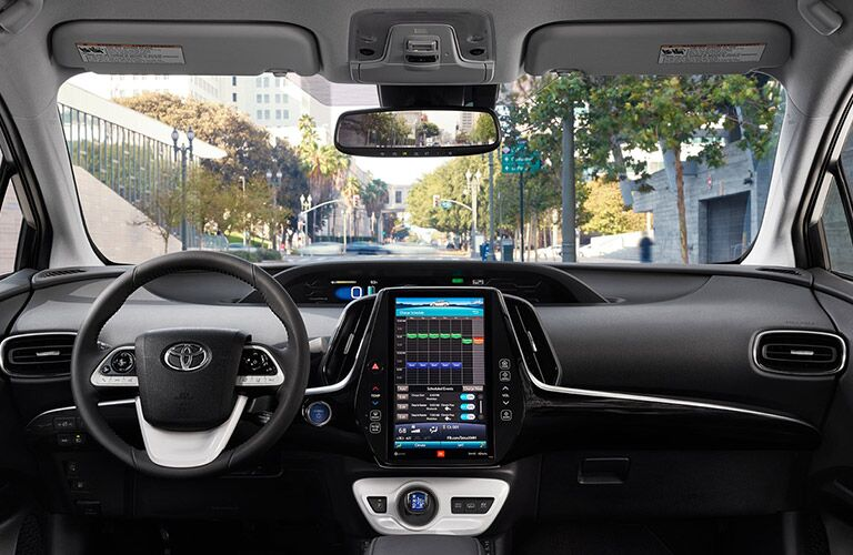 2018 Toyota Prius Prime steering wheel and dashboard