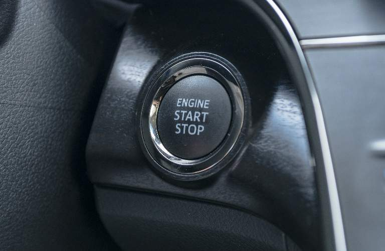 close up of push start button 2018 avalon