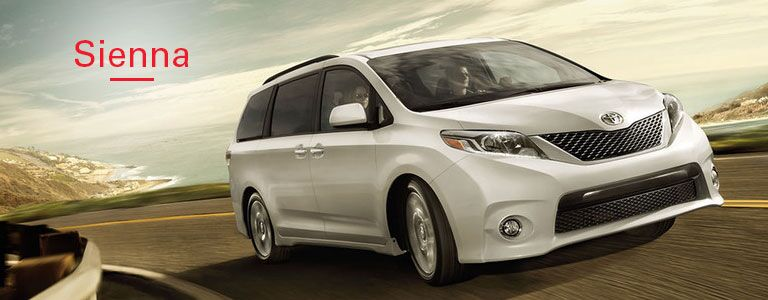 Exterior of the 2016 Toyota Sienna