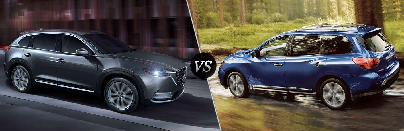 2018 Mazda CX-9 compared to 2018 Nissan Pathfinder