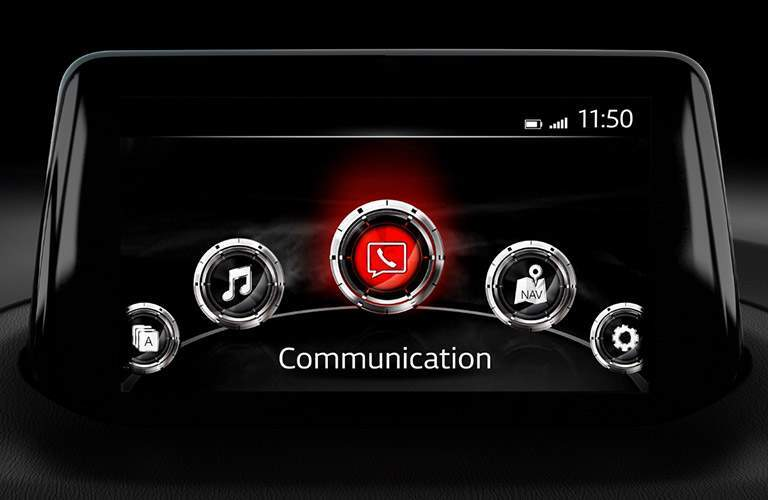 Head up infotainment display in the 2018 Mazda3