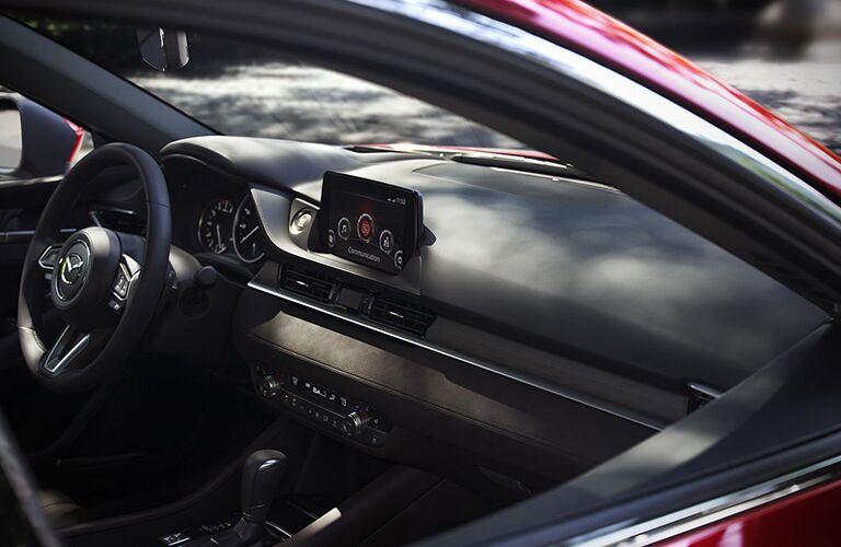 2018 Mazda6 interior front dash and steering wheel