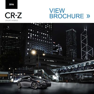 2016 Honda CR-Z brochure