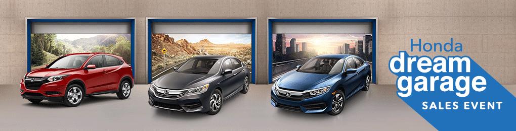 Honda dream garage sales event at Patty Peck Honda
