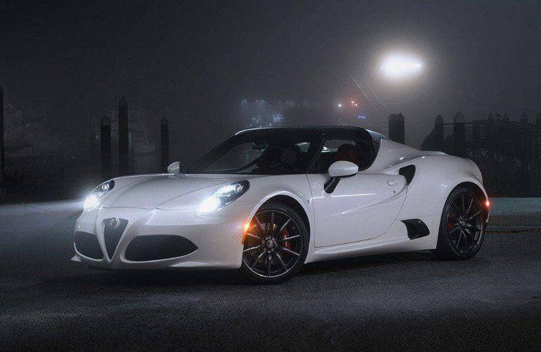 white 2016 Alfa Romeo 4C Spider