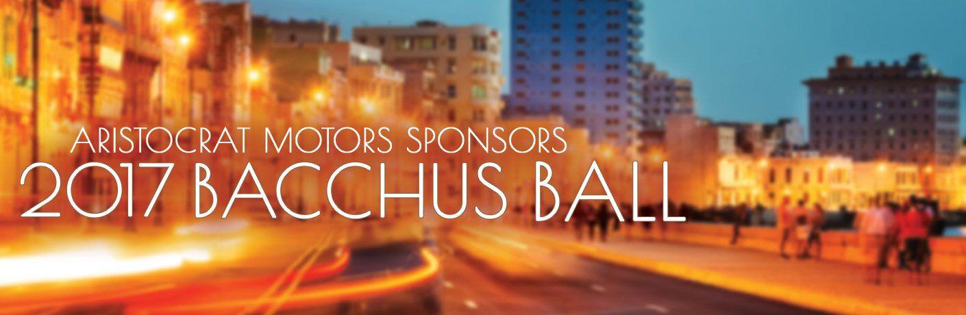 Aristocrat Motors Sponsors 2017 Bacchus Ball