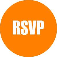 Orange RSVP button