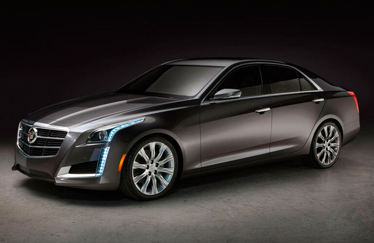 Front/side profile of gray Cadillac CTS