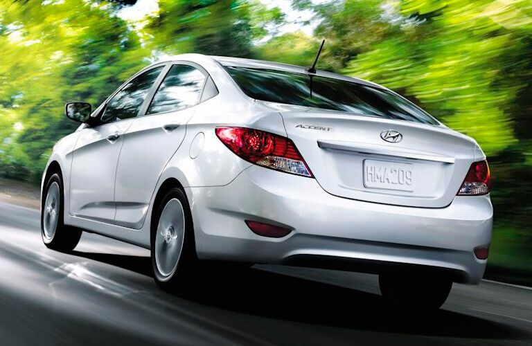 hyundai accent rear view