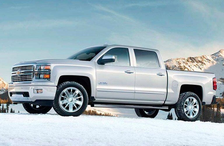 2015 Chevrolet Silverado 1500 in snow