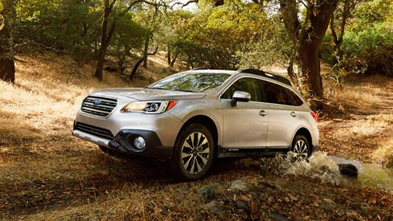 Subaru Outback silver front