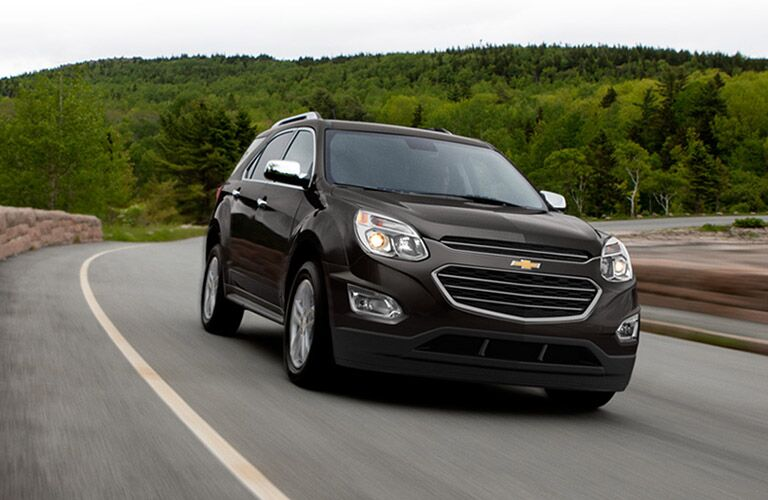 black Chevy Equinox on highway