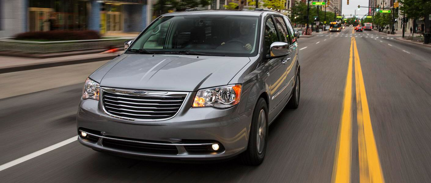 2016 Chrysler Town and Country gray on the highway