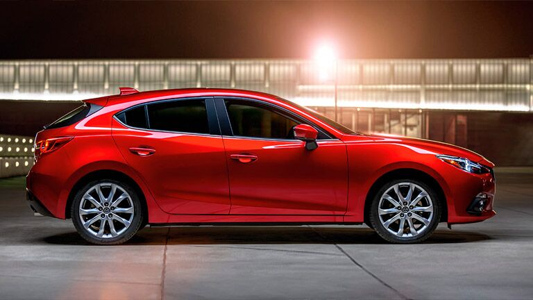 2016 Mazda3 parked outside bright light