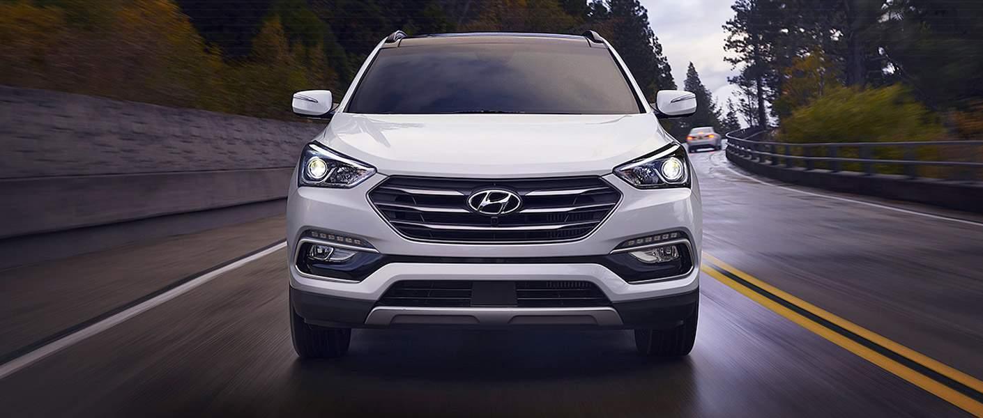 2017 Hyundai Sonata Front Grille Driving Towards Camera
