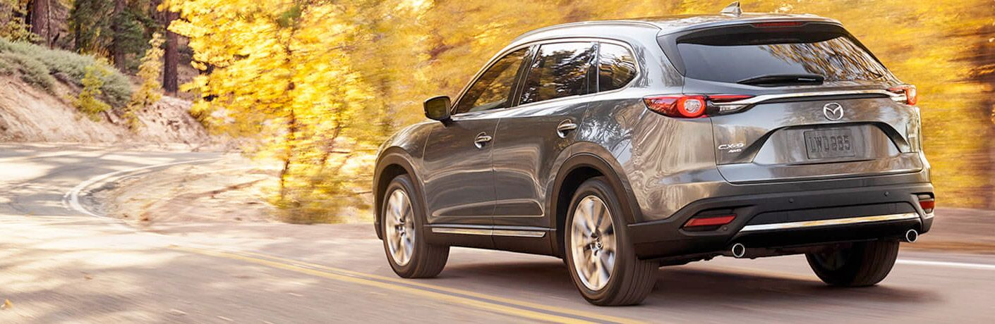 2017 Mazda CX-9 on a fall road