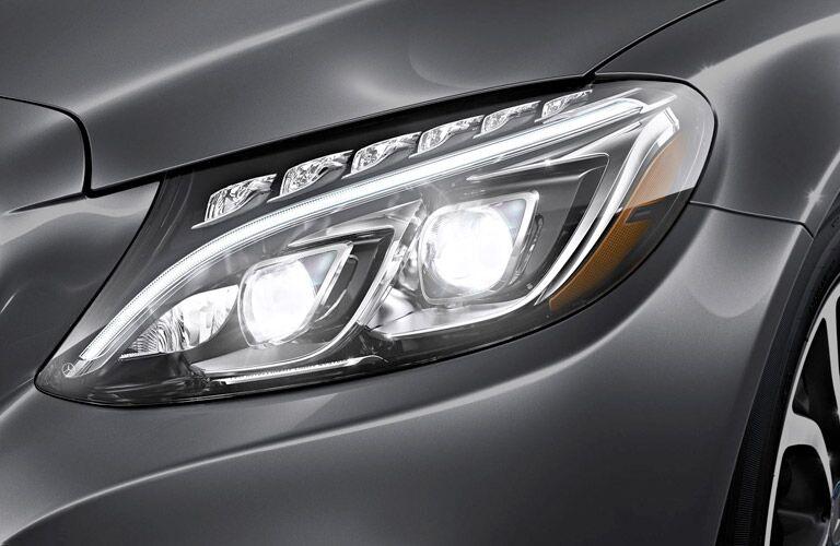 2017 Mercedes-Benz C-Class headlight close up