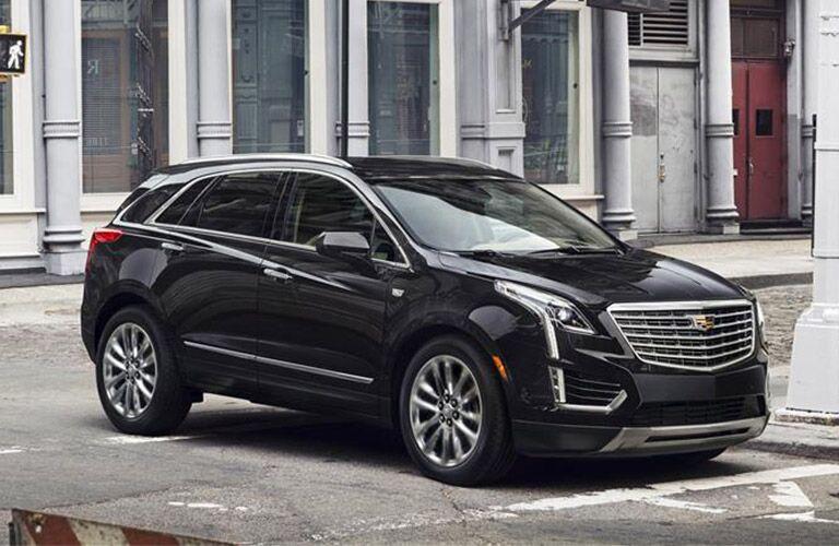 Black 2018 Cadillac XT5 in a city
