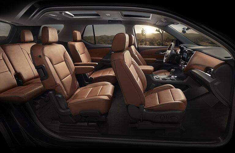 Interior seating in 2018 Chevy Traverse
