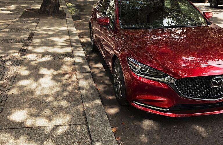 2018 Mazda6 parked by the sidewalk