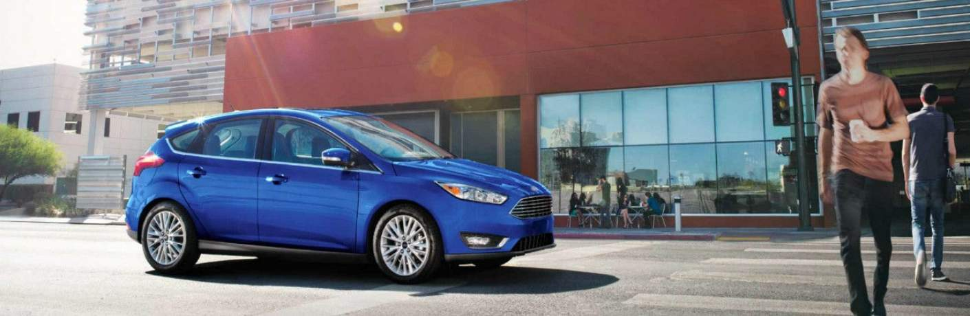 2018 ford Focus Hatchback Waiting for Pedestrians