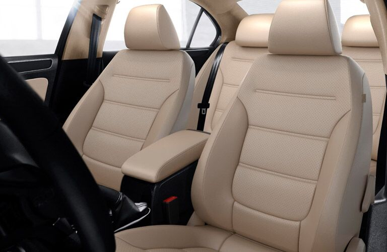 A photo of the front seats in the used Jetta.