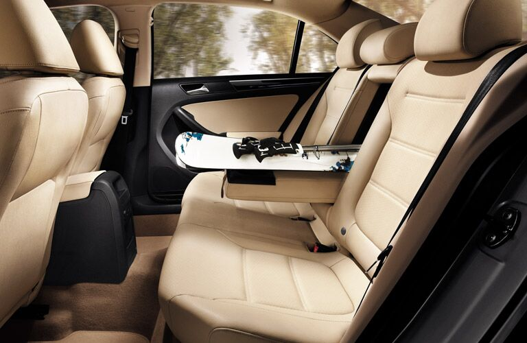 A photo of the rear seats in the VW Jetta.