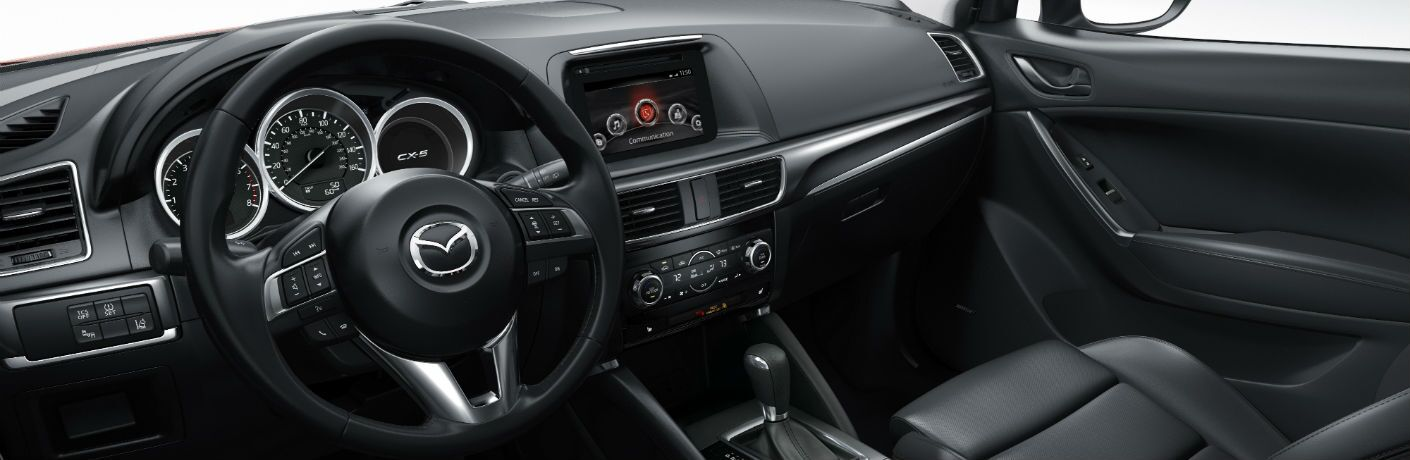 A photo of the interior of the Mazda CX-5.
