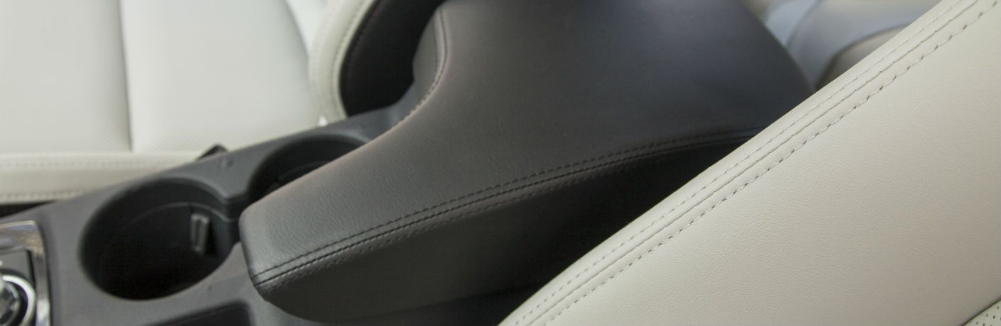 A photo of the center console in the Mazda CX-5.