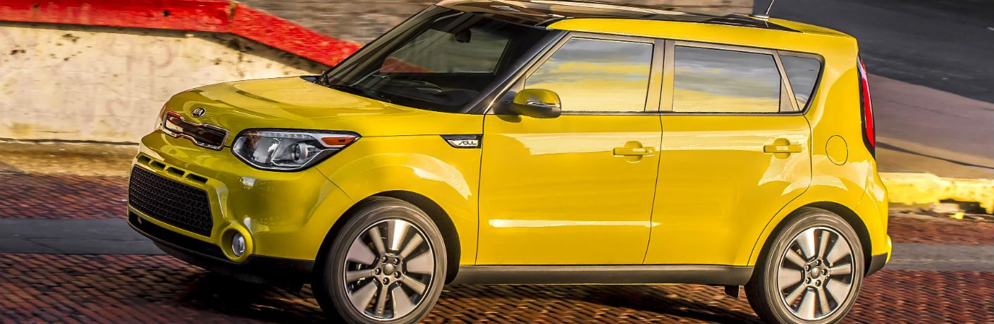 A left profile photo of the used Kia Soul available at Auction Direct USA.