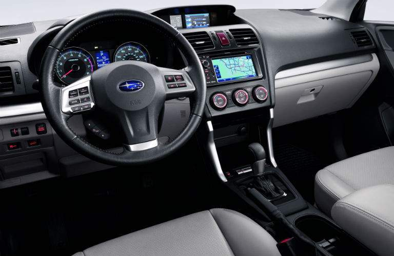 used subaru forester 2014 interior with steering wheel infotainment and console raleigh nc_o