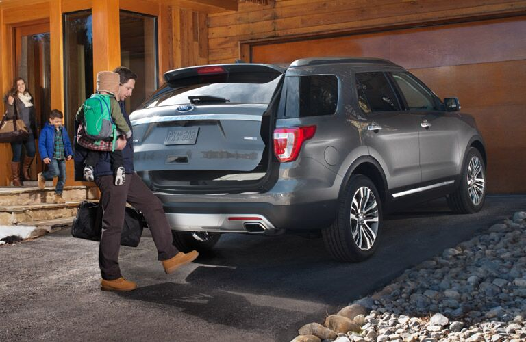 Rear of the 2016 Ford Explorer