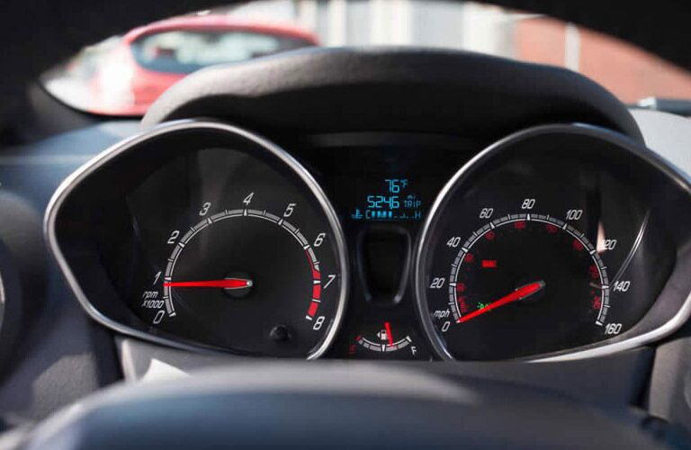 Gauges on the 2016 Ford Fiesta