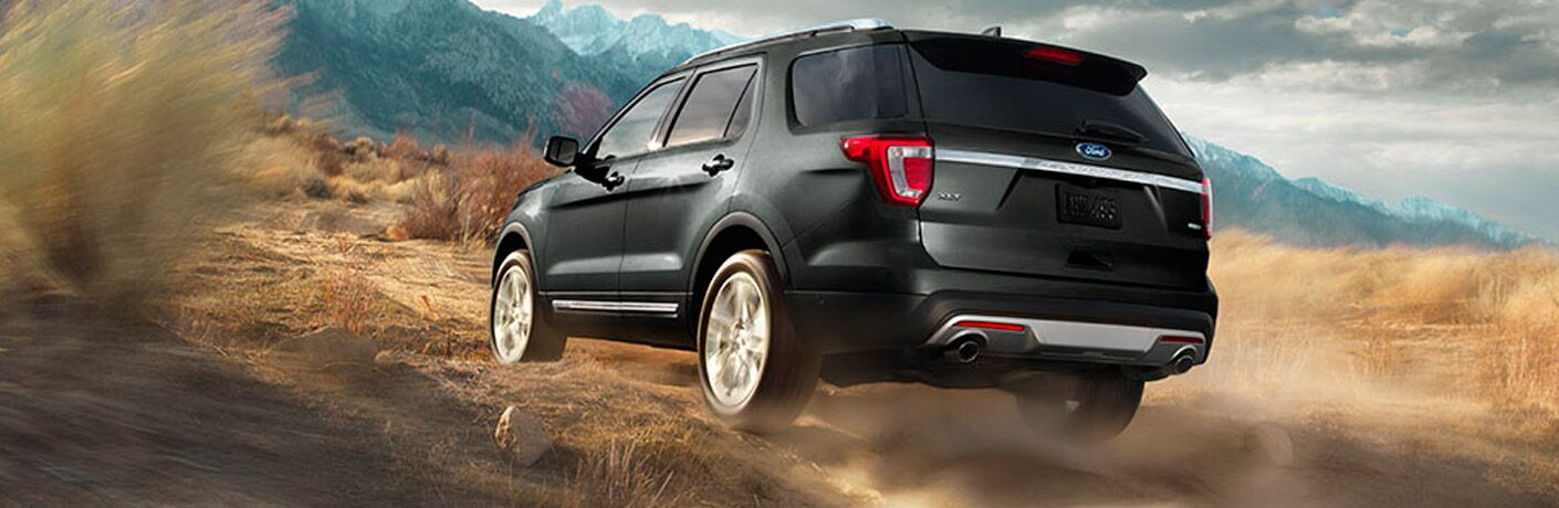 Rear of the 2017 Ford Explorer