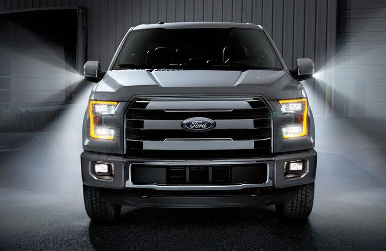 front grille view of the 2017 Ford F-150