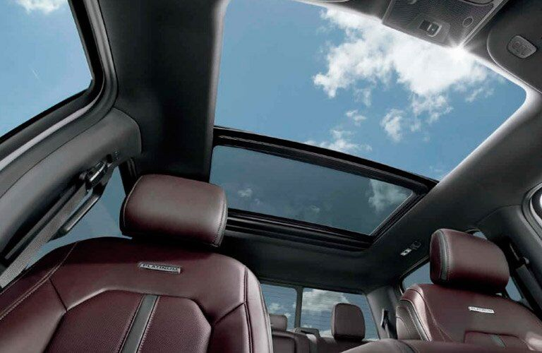 view through the sunroof of the 2017 Ford F-150