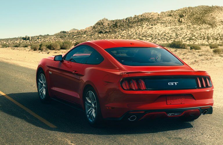 Mustang rearview in Red