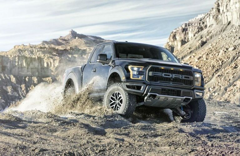 Ford Raptor off-roading