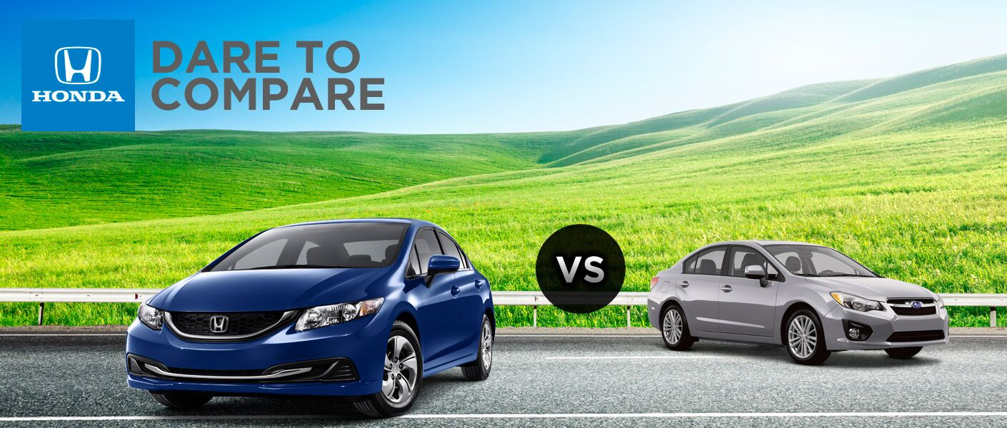 2014 Honda Civic vs 2014 Subaru Impreza