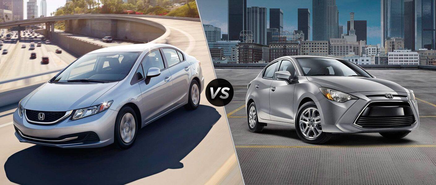 2015 Honda Civic vs 2016 Scion iA