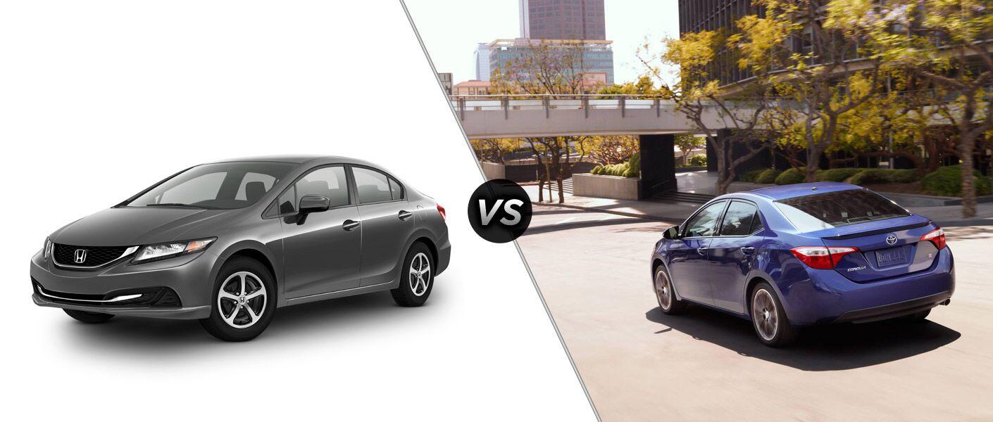 2015 Honda Civic vs 2015 Toyota Corolla