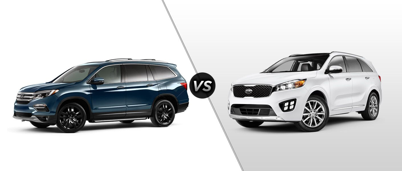 2016 Honda Pilot Elite vs 2016 Kia Sorento Limited V6