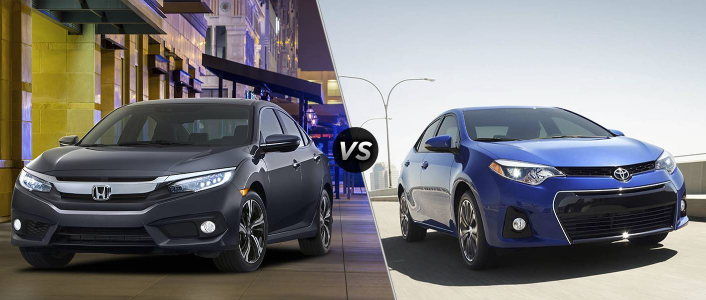 2016 Honda Civic Touring vs 2016 Toyota Corolla S