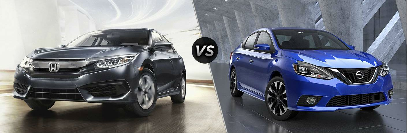 2016 Honda Civic Touring vs 2016 Nissan Sentra SL