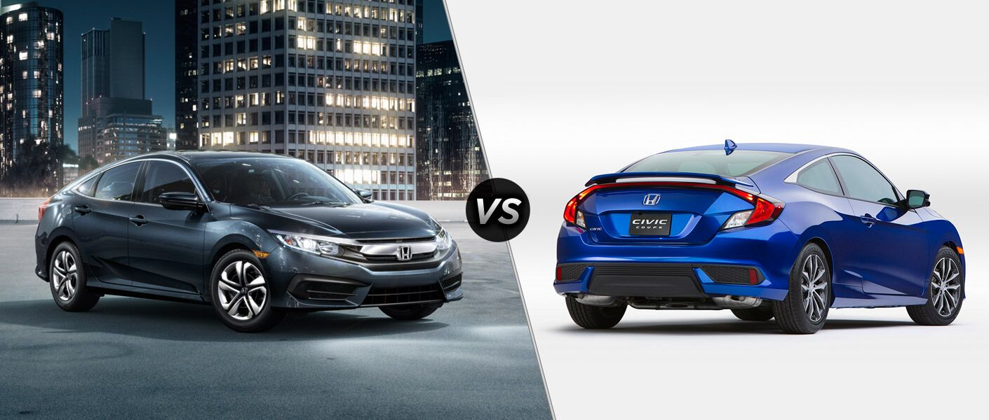 2016 Honda Civic vs 2016 Honda Civic Coupe