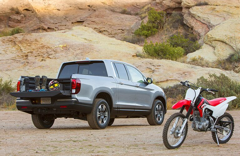 2017 Honda Ridgeline rear cargo space